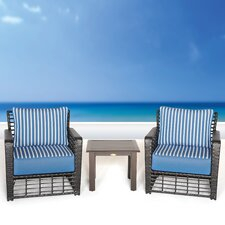 Melrose 3 Piece Deep Seating Group with Cushion