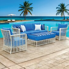 Melrose 4 Piece Lounge Seating Group with Cushion