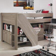 Hochbett Hangun mit Tisch und Treppe, 120 x 200 cm