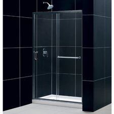 "Infinity-Z 72"" x 48"" Sliding Frameless Shower Door"