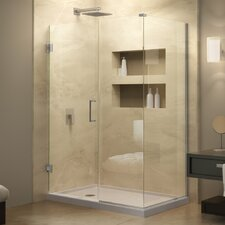 "Unidoor Plus 30"" W x 56"" D Hinged Shower Enclosure"