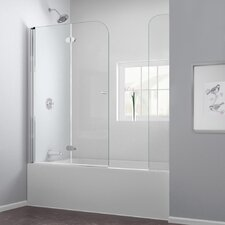 "AquaFold 58"" x 60"" Pivot Hinged Tub Door with Hardware"