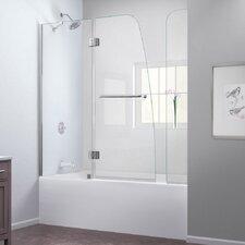 "Aqua 58"" x  60"" Pivot Hinged Tub Door with Hardware"