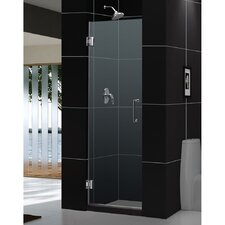 "UniDoor 72"" x 30"" Pivot Frameless Hinged Shower Door"