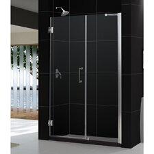 """UniDoor 72"""" x 60"""" Pivot Frameless Hinged Shower Door with 30"""" Side Panel"""