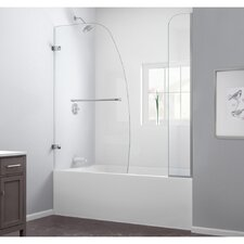"Aqua Uno 58"" x 60"" Pivot Hinged Tub Door with Hardware"