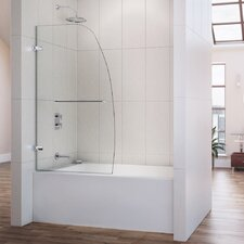 "Aqua Uno 58"" x 34"" Pivot Frameless Hinged Tub Door"