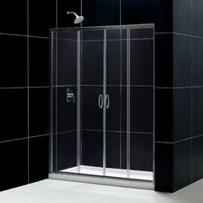 "Visions 72"" x 60"" Sliding Frameless Shower Door"
