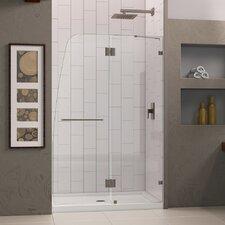 "AquaLux 72"" x 46"" Pivot Frameless Hinged Shower Door"