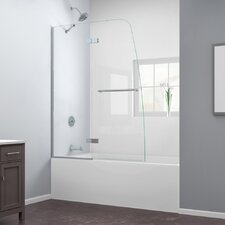"Aqua Ultra 58"" x 48"" Pivot Frameless Hinged Tub Door"