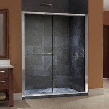 "Infinity-Z 72"" x 60"" Sliding Frameless Shower Door"
