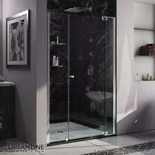 "Allure 73"" x 53"" Frameless Pivot Shower Door"