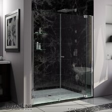 "Allure 73"" x 64"" Frameless Pivot Shower Door"