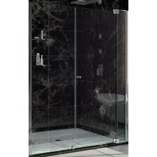 """DreamLine Allure  73"""" x 54"""" Pivot Frameless Shower Door"""