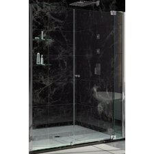 "Allure 73"" x 59"" Pivot  Frameless Shower Door"