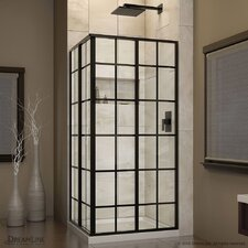 "French Corner 34.5"" x 34.5"" x 72"" Sliding Shower Enclosure"