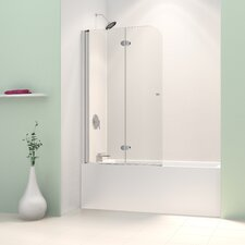 "AquaFold 58"" x 36"" Pivot Frameless Hinged Tub Door"