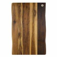 "Acacia Raw Edge 17"" x 11"" Gripper Cutting Board"
