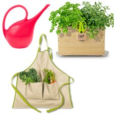 Homegrown Gourmet Harvest Window Box, Apron and Watering Can