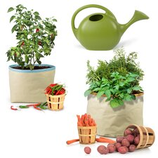 Homegrown Gourmet Harvest 3 Piece Round Pot Planter Set