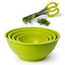 Homegrown Gourmet 5 Piece Bamboo Fiber Bowl Set
