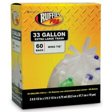 33 Gallon Extra Large Trash Bags in Clear (60 Count)