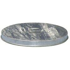 Heavy Duty Flat Top Galvanized Drum Lids (Fits 55 Gallon Drum) (Set of 6)