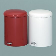 4-Gal Metal Series Step-On Trash Can with Galvanized Liner