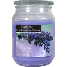 Candle-Lite Fresh Lavender Breeze Terrace Jar Candle (Set of 4)