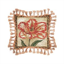Tulip Unveiled II Cotton Throw Pillow