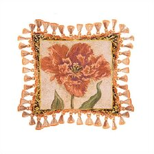 Tulip Unveiled IV Cotton Throw Pillow