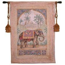 Cityscape, Landscape, Seascape Old World Elephant I by Debra Swartzendruber Tapestry