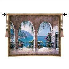 Cityscape, Landscape, Seascape Mediterranean Arch Tapestry