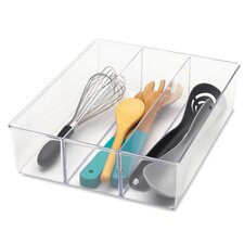 3 Section Clear Drawer Organizer (Set of 6)