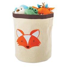 Fox Round Toy Storage Bin