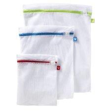3 Piece Color Coded Mesh Wash Bag Set