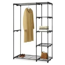 """Deluxe 73"""" H x 48"""" W x 19.5"""" D Portable Wardrobe (Set of 2)"""