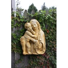 Religious Madonna and Child Silhouete Wall Décor