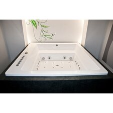 "Lacus 70"" x 70"" Air / Whirlpool Bathtubub"