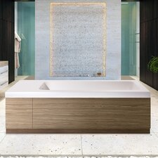 "Pure 82.75"" x 31.5"" Soaking Bathtub"