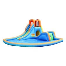 Cascade Inflatable Water Slides with Large Pool