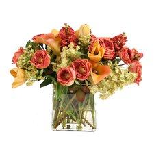 Waterlook Summer Mix of Roses, Tulips, Calla Lilies, Hydrangeas in Glass
