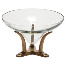 Decor Accessories Lead Decorative Bowl with an Tusk Base