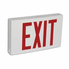 Contractor Grade Thermo Plastic Red LED Exit Sign