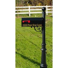 Lewiston In-Ground Mailbox Post and Stand
