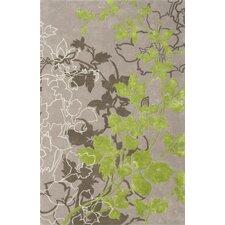 Dahlia Light Gray / Green Area Rug