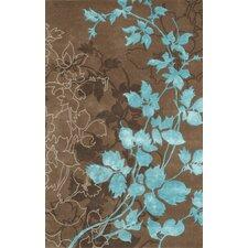 Dahlia Brown & Turquoise Area Rug