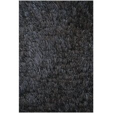 Crystal Solid Black Area Rug
