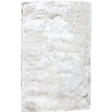 Crystal Solid White Rug