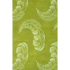 Floral Light Green Area Rug